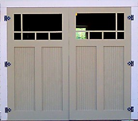 Building traditional garage doors for Arts and crafts garage